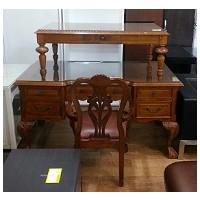 엔틱 책상+의자 세트